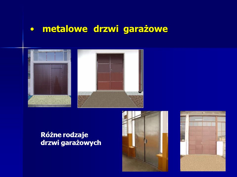 metalowe drzwi garażowe