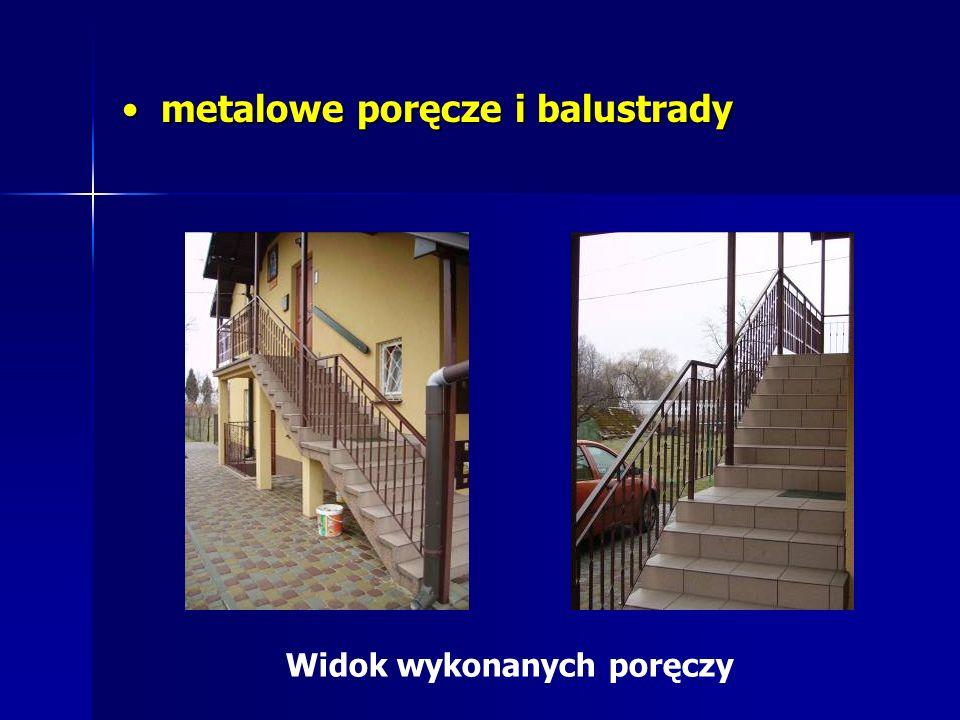 metalowe poręcze i balustrady
