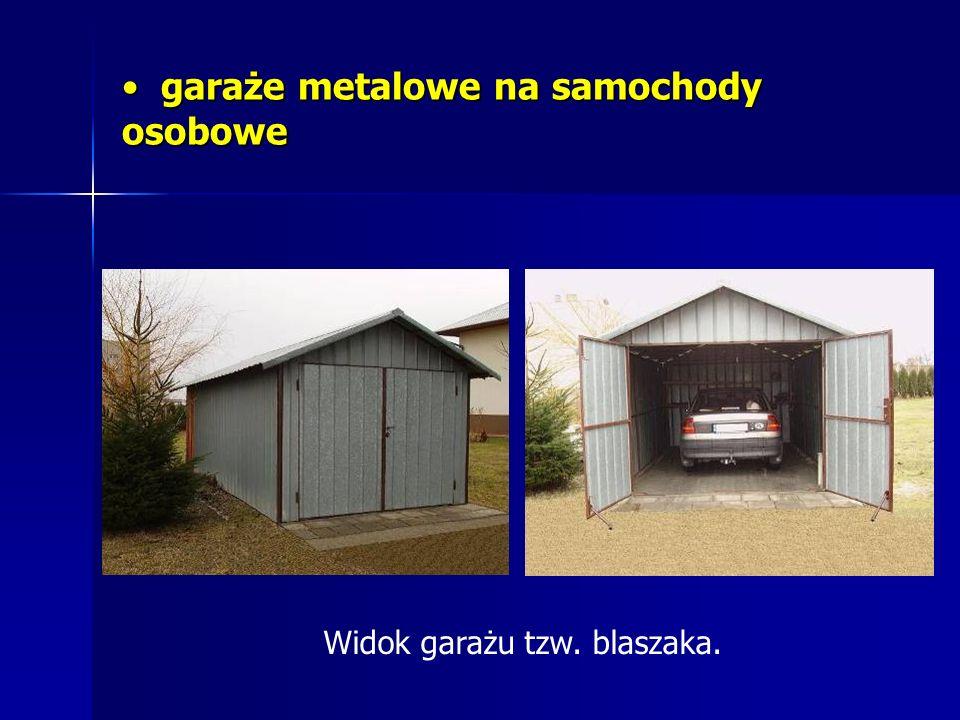 garaże metalowe na samochody osobowe