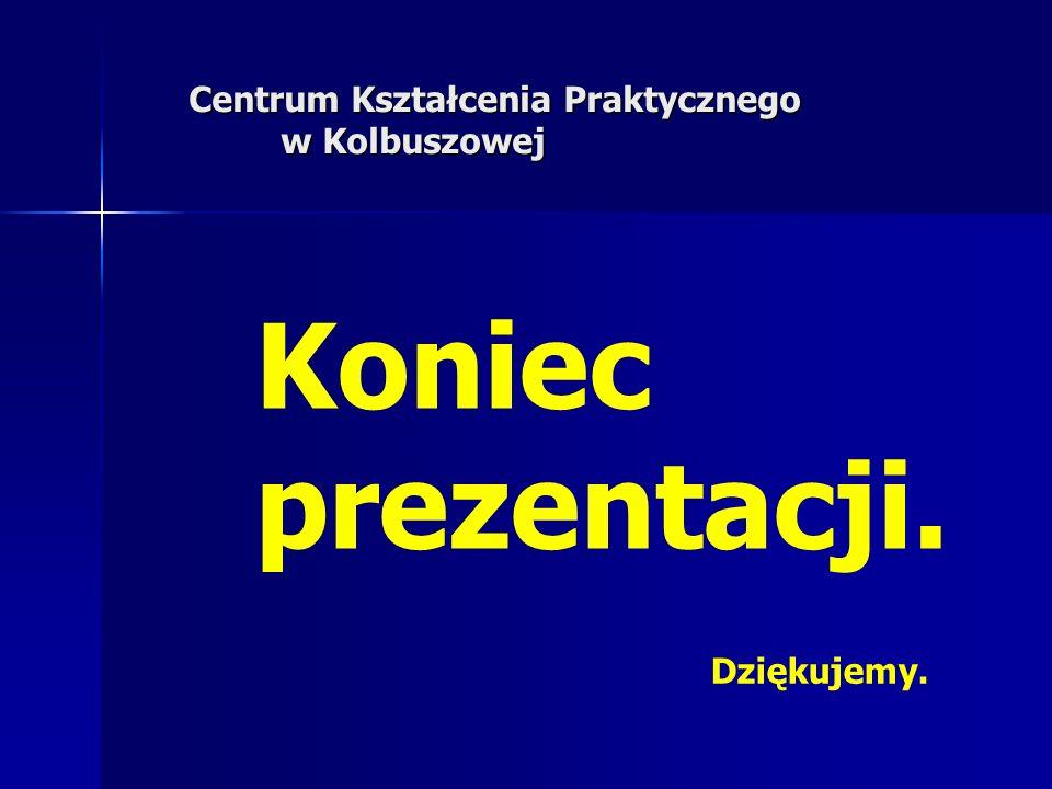 Koniec prezentacji. Centrum Kształcenia Praktycznego w Kolbuszowej