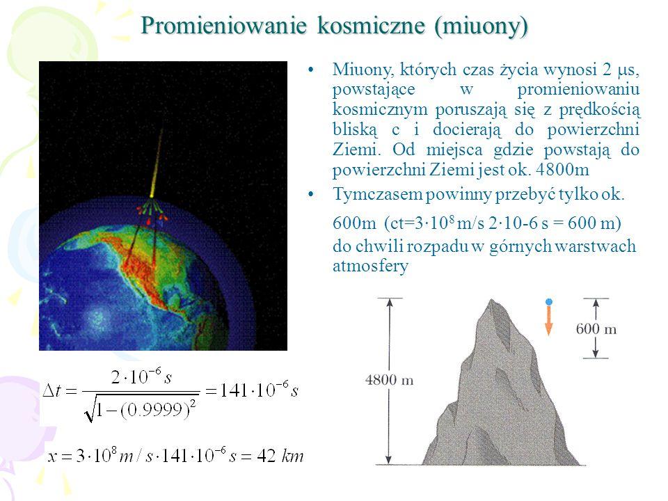 Promieniowanie kosmiczne (miuony)