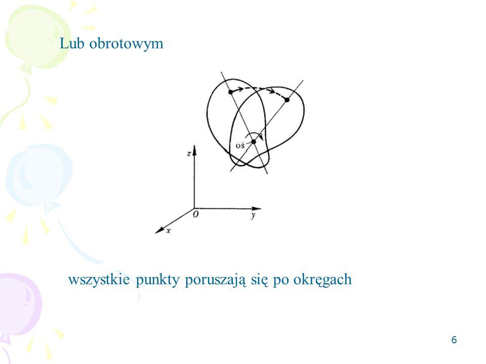 Lub obrotowym wszystkie punkty poruszają się po okręgach