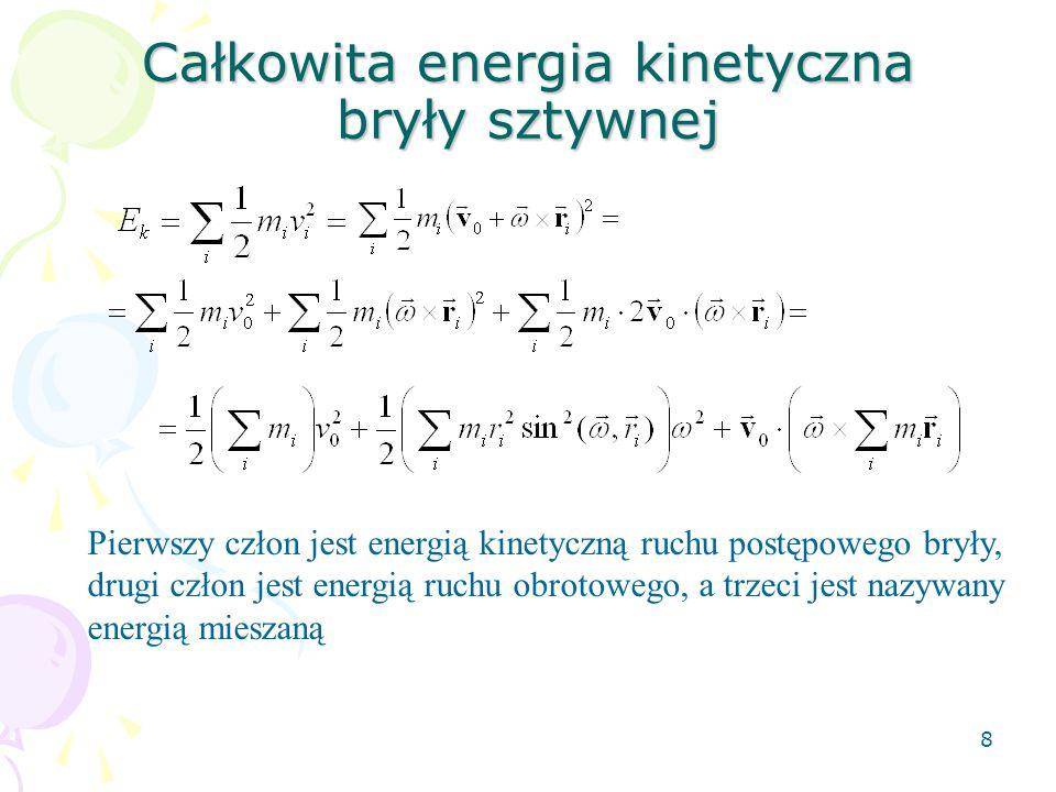 Całkowita energia kinetyczna bryły sztywnej