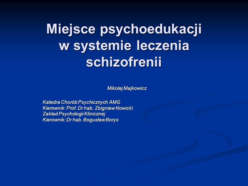 Miejsce psychoedukacji w systemie leczenia schizofrenii