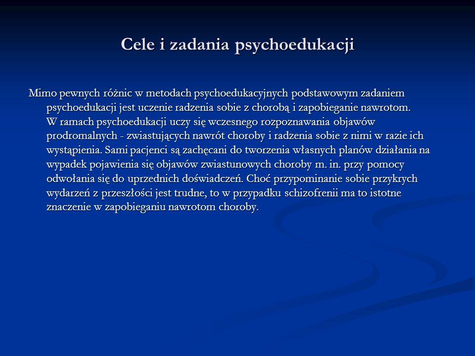 Cele i zadania psychoedukacji