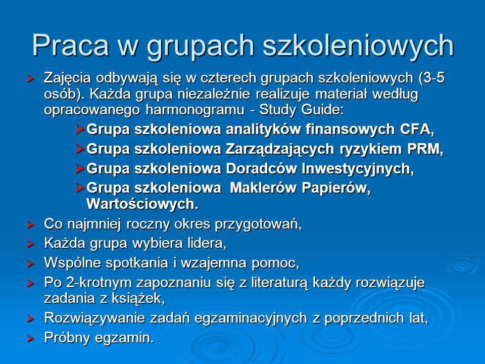 Praca w grupach szkoleniowych