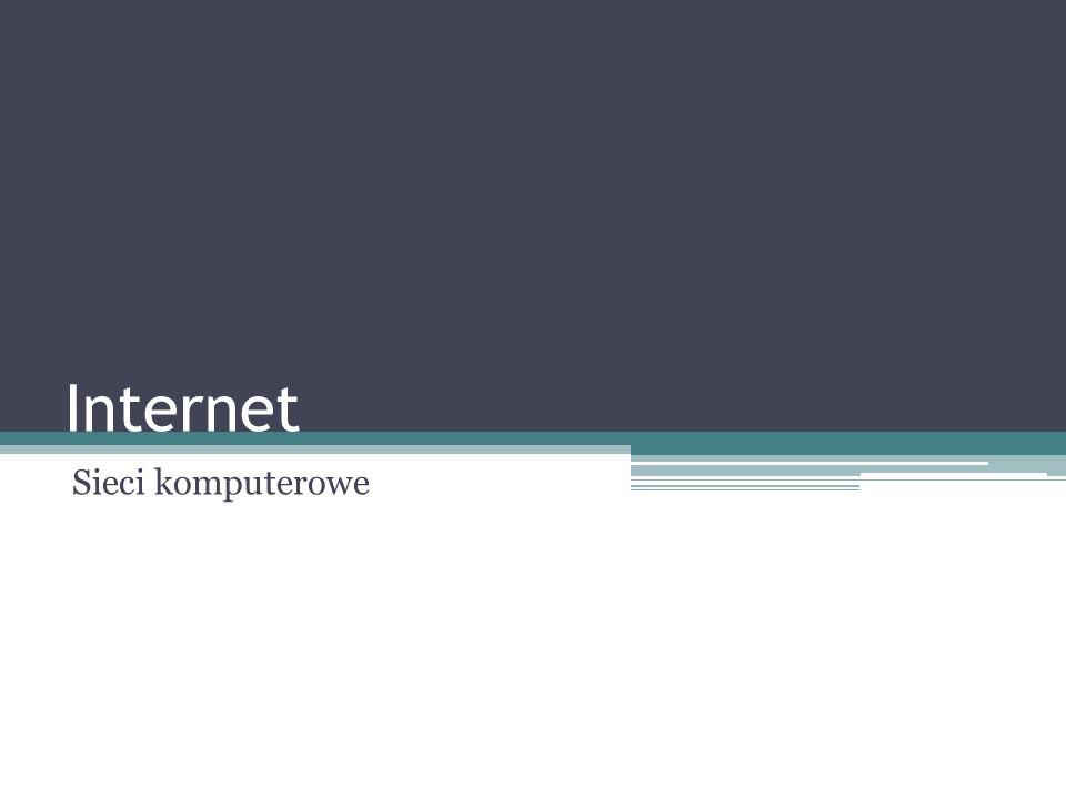 Internet Sieci komputerowe