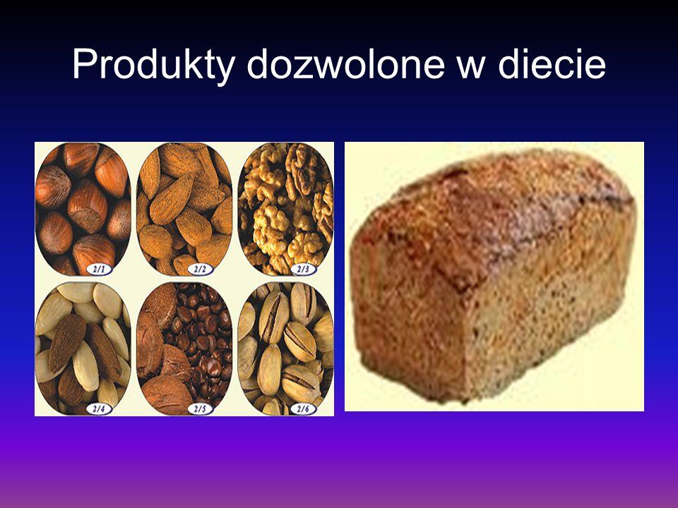 Produkty dozwolone w diecie