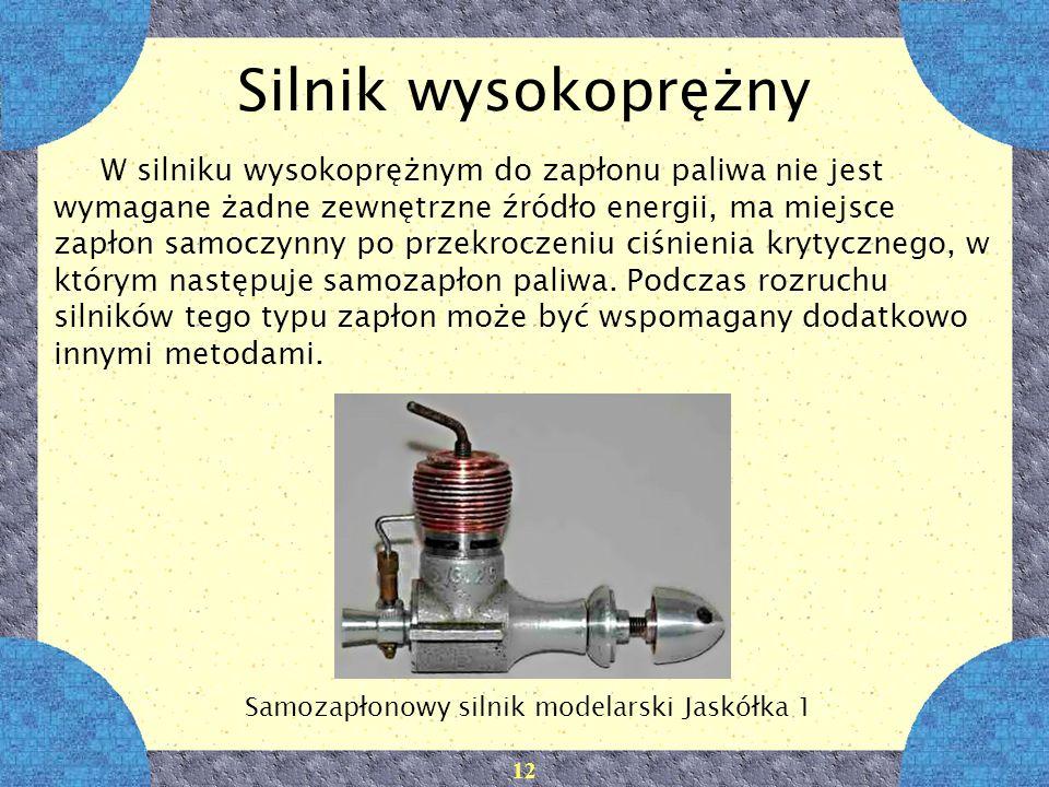 Samozapłonowy silnik modelarski Jaskółka 1