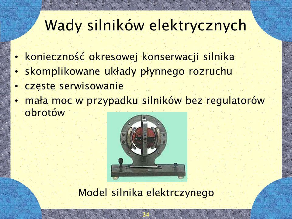 Wady silników elektrycznych