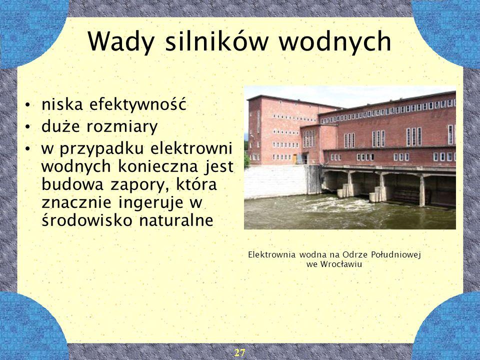 Elektrownia wodna na Odrze Południowej we Wrocławiu