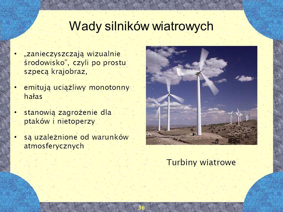 Wady silników wiatrowych