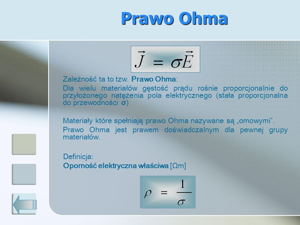 Prawo Ohma Zależność ta to tzw. Prawo Ohma: