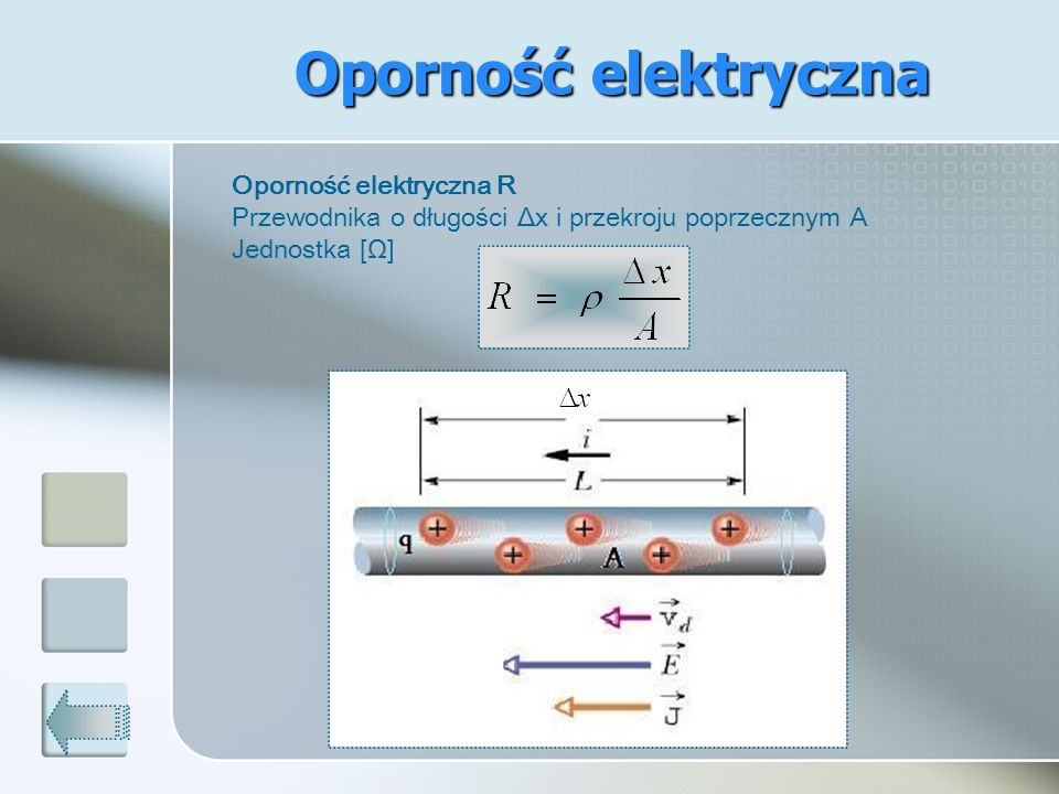 Oporność elektryczna Oporność elektryczna R
