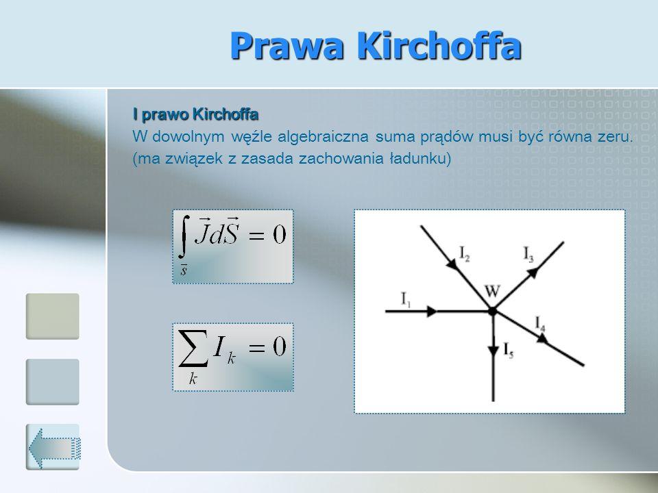 Prawa Kirchoffa I prawo Kirchoffa