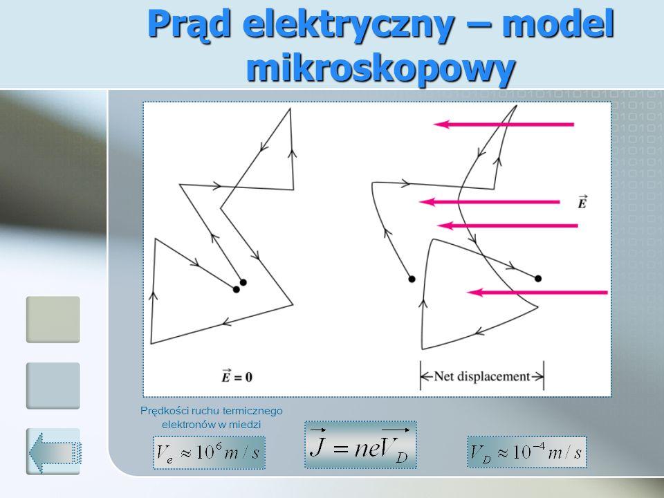 Prąd elektryczny – model mikroskopowy