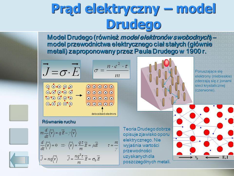 Prąd elektryczny – model Drudego