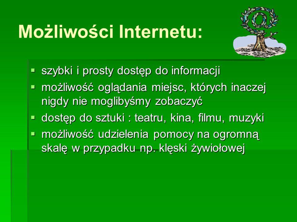 Możliwości Internetu: