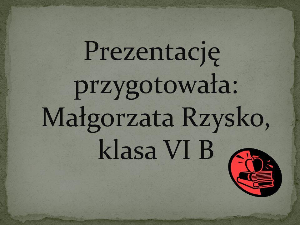 Prezentację przygotowała: Małgorzata Rzysko, klasa VI B