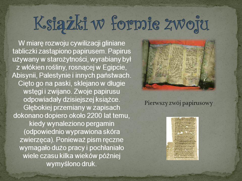 Pierwszy zwój papirusowy