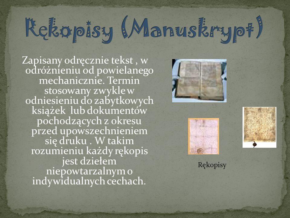 Rękopisy (Manuskrypt)
