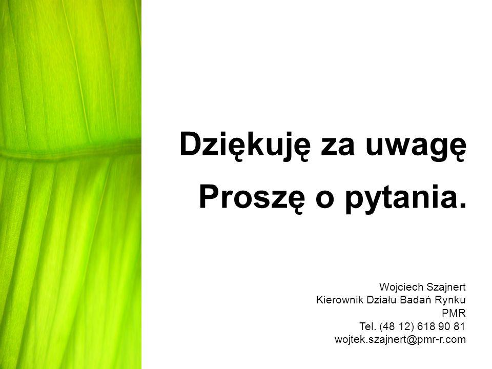 Dziękuję za uwagę Proszę o pytania. Wojciech Szajnert