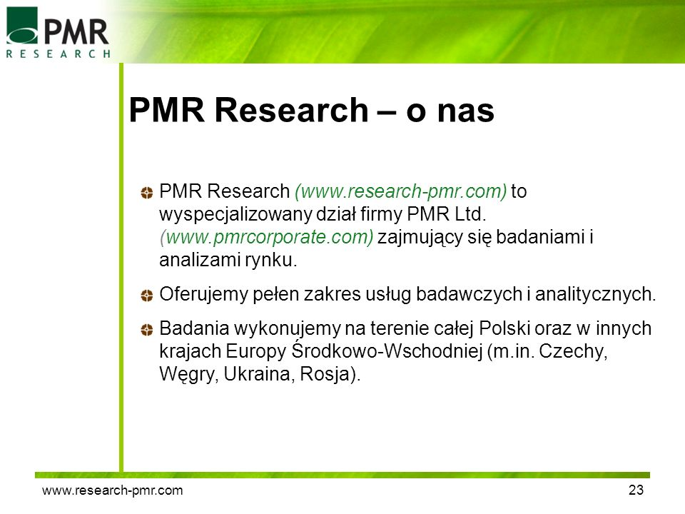 PMR Research – o nas