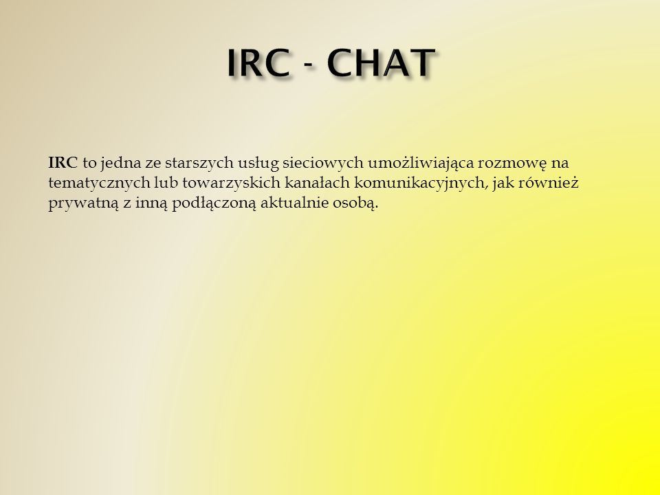 IRC - CHAT