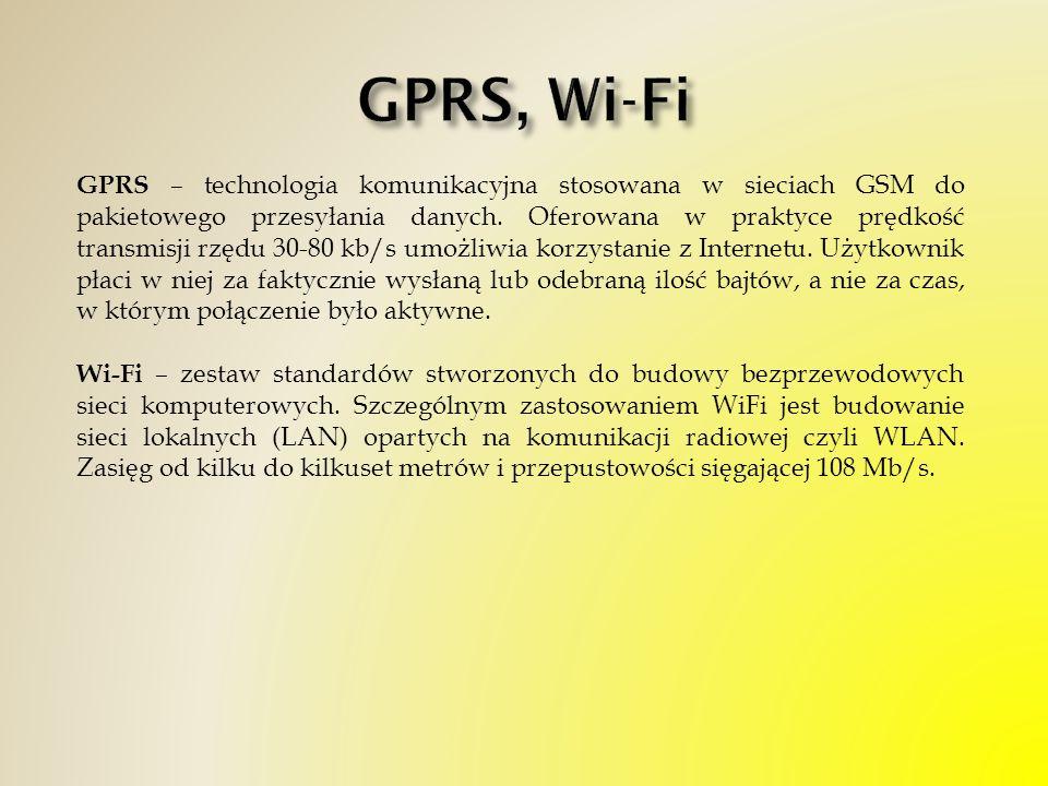 GPRS, Wi-Fi