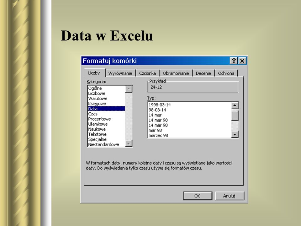 Data w Excelu