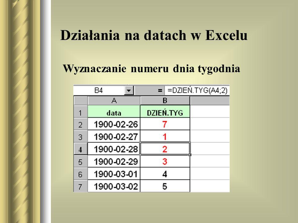 Działania na datach w Excelu