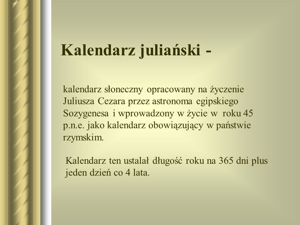 Kalendarz juliański -