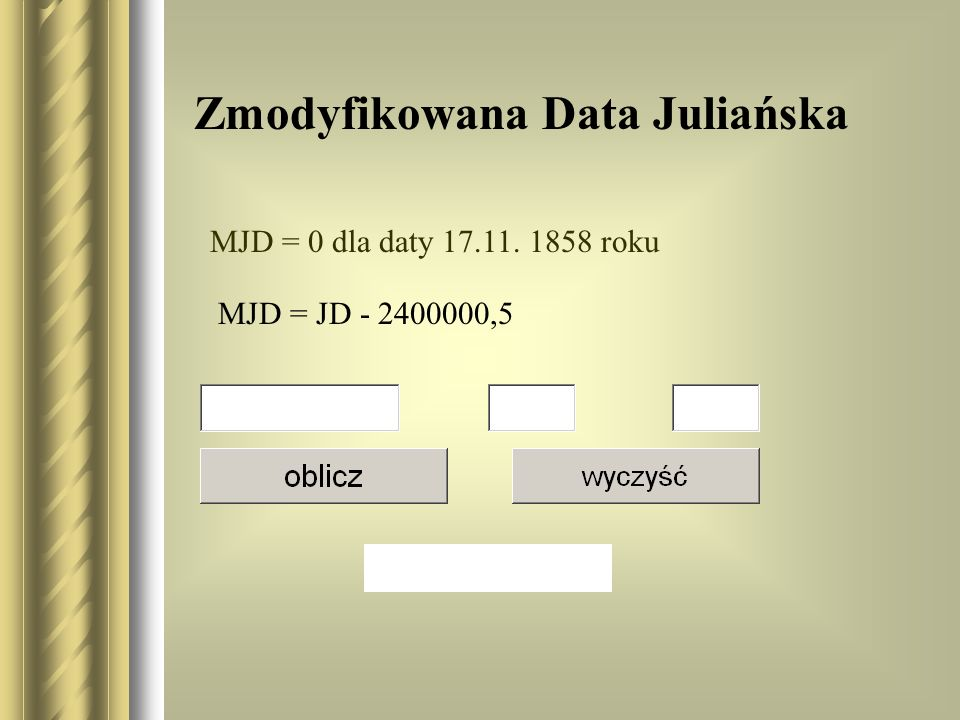 Zmodyfikowana Data Juliańska