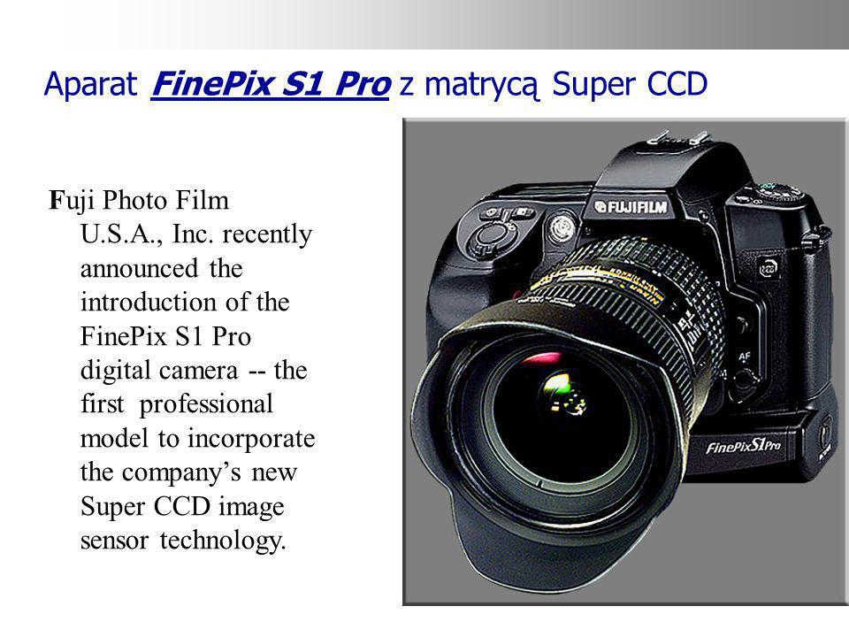 Aparat FinePix S1 Pro z matrycą Super CCD