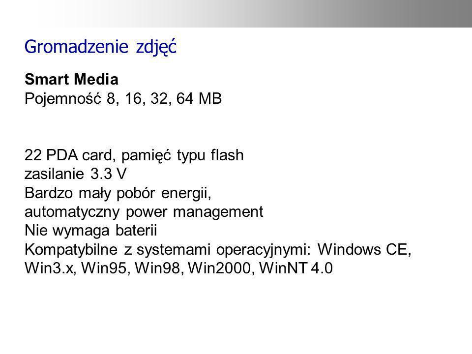 Gromadzenie zdjęć Smart Media Pojemność 8, 16, 32, 64 MB
