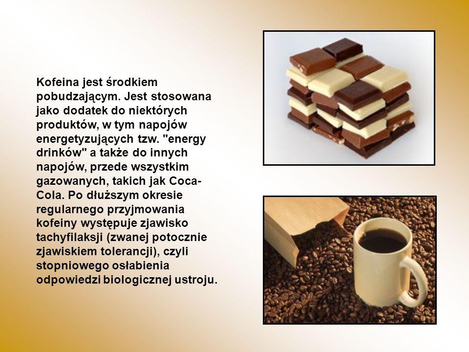 Kofeina jest środkiem pobudzającym