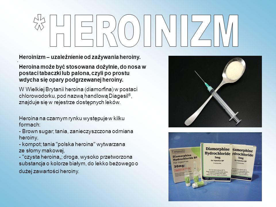 *HEROINIZM Heroinizm – uzależnienie od zażywania heroiny.