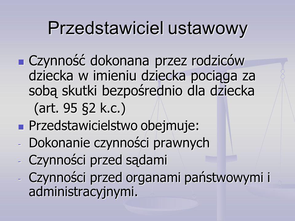 Przedstawiciel ustawowy