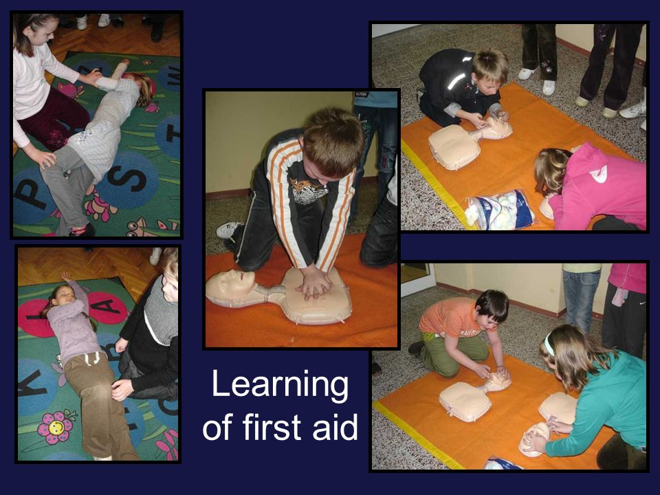 Learning of first aid