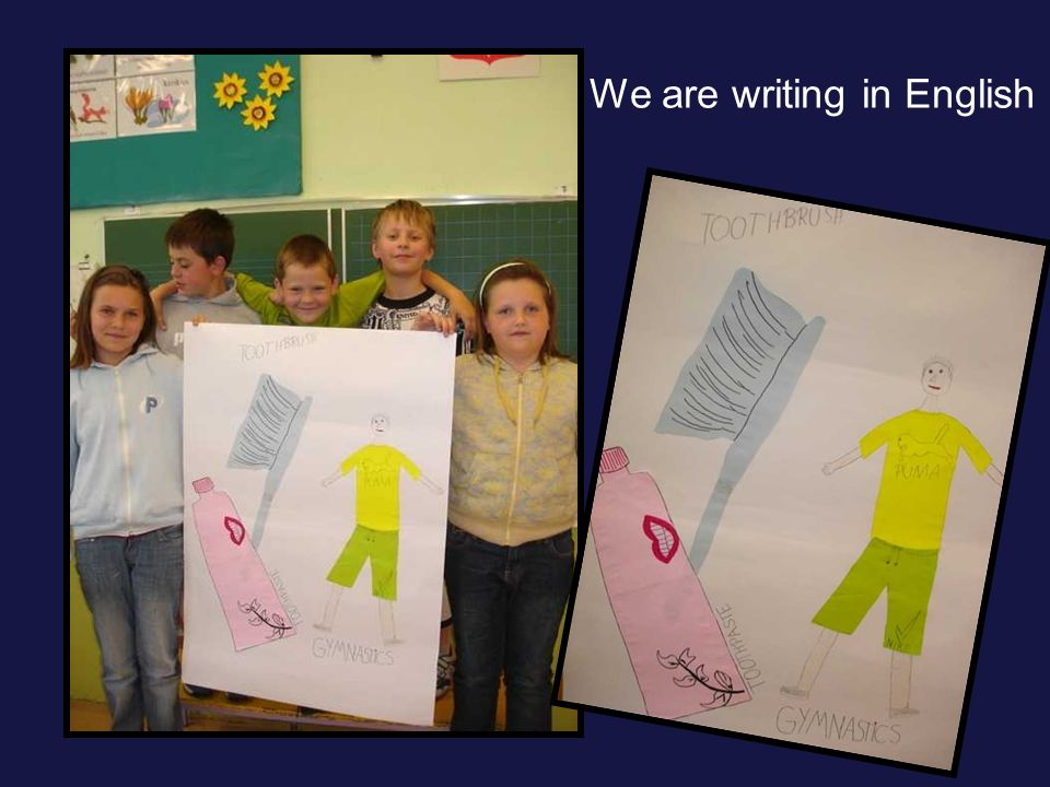 We are writing in English