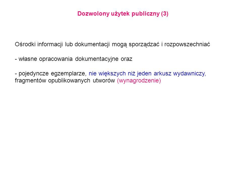 Dozwolony użytek publiczny (3)