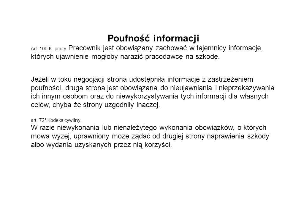 Poufność informacji
