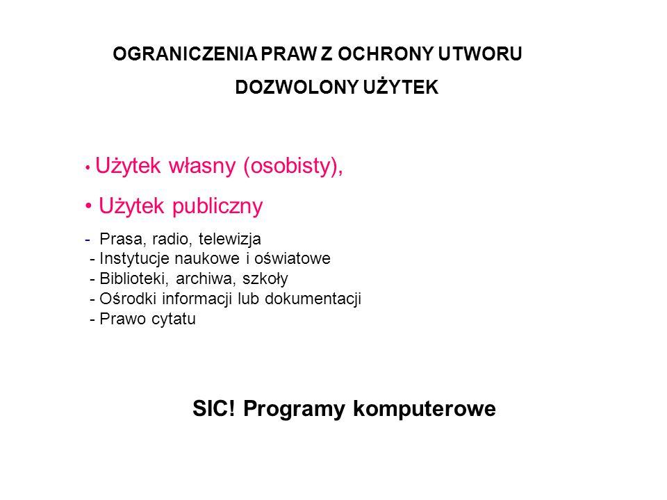 SIC! Programy komputerowe