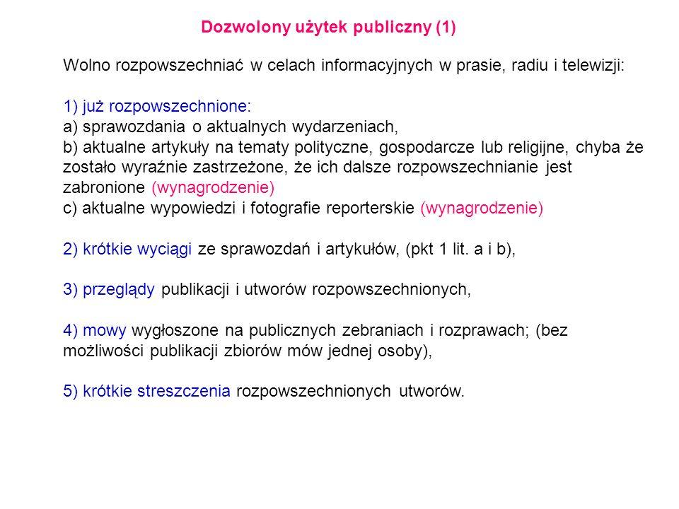 Dozwolony użytek publiczny (1)