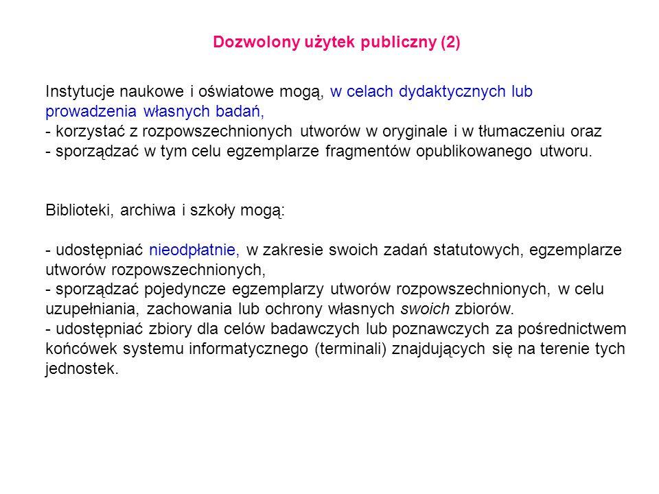 Dozwolony użytek publiczny (2)