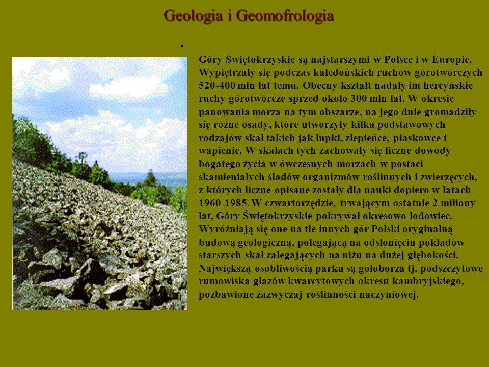 Geologia i Geomofrologia