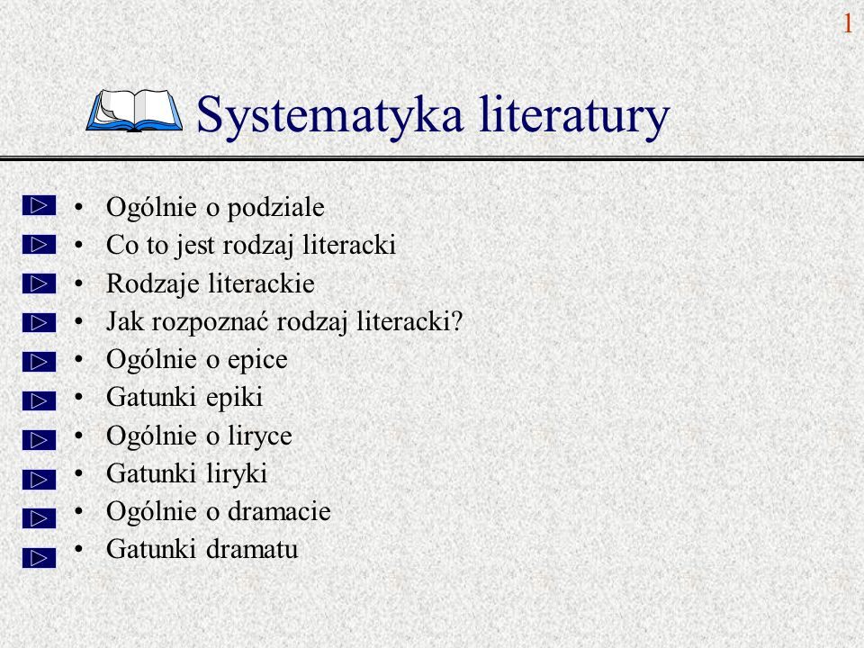 Systematyka literatury
