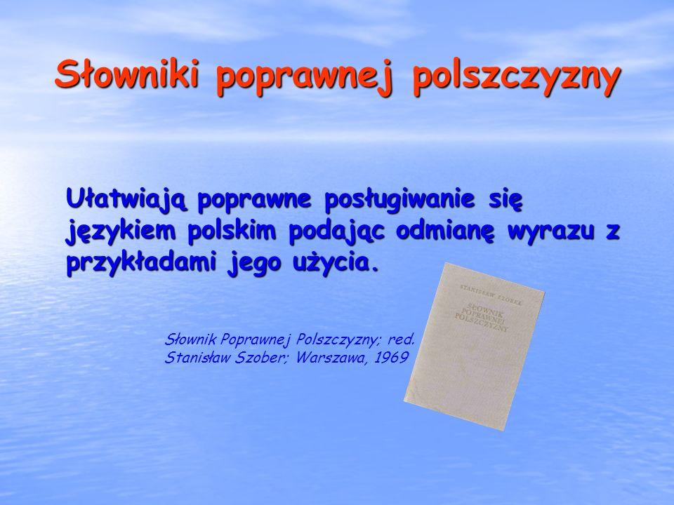 Słowniki poprawnej polszczyzny