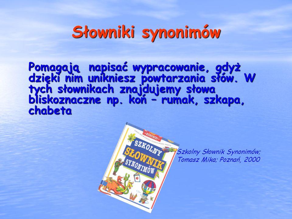 Słowniki synonimów