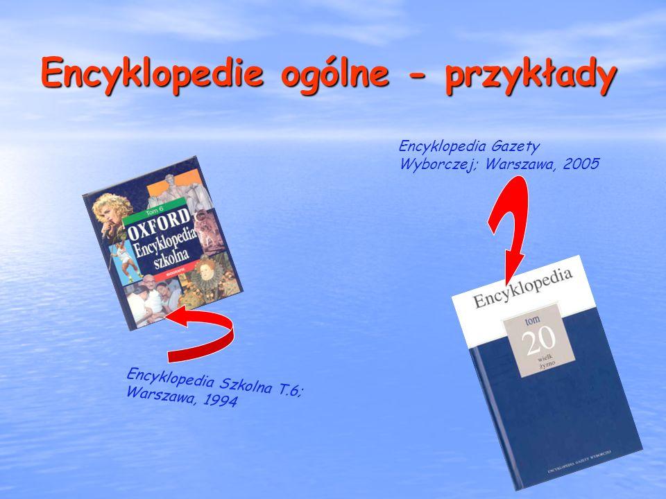 Encyklopedie ogólne - przykłady